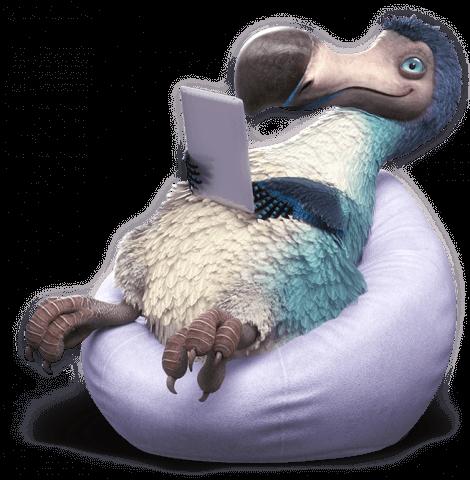 dodo on beanbag